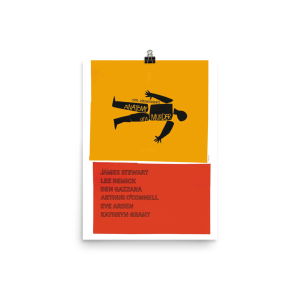 Saul Bass – Anatomy of a Murder – Poster – Space Age Ideas