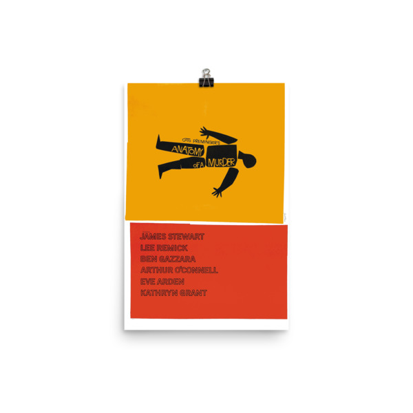Saul Bass Anatomy Of A Murder Poster Space Age Ideas