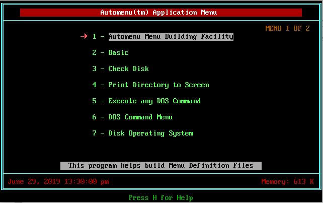 Floppy Shop - Automenu Menu generator for MS-DOS