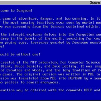 Floppy Shop - MIT Zork (Dungeon) - MS-DOS edition